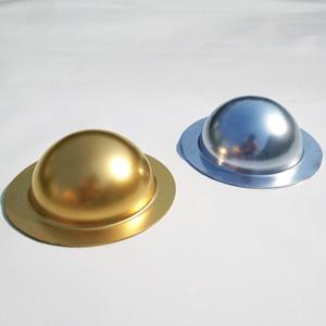 Пластиковая полусфера из оргстекла золото серебро