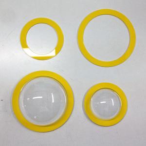 Диск/кольцо для пластиковой прозрачной полусферы из оргстекла с фланцем