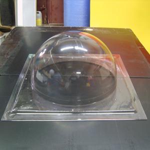 Пластиковая прозрачная полусфера из оргстекла