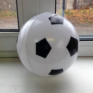 Пластиковый шар сфера в виде футбольного мяча