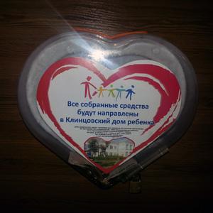Ящик для сбора пожертвований и благотворительности настольный «НСТ-11»