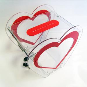 Ящик для сбора пожертвований и благотворительности настольный «НСТ-17»