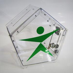 Ящик для сбора пожертвований и благотворительности настольный «НСТ-18»