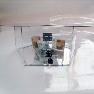 Ящик для сбора пожертвований и благотворительности настольный «НСТ-22»
