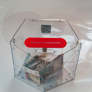 Ящик для сбора пожертвований и благотворительности настольный «НСТ-23»