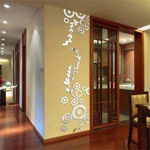 Фигурные зеркальные панели, зеркальная плитка, зеркальный декор на стену, зеркальное панно